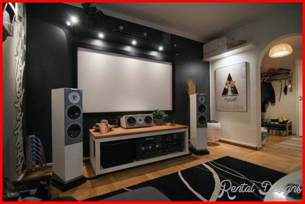 Nice Small Home Theater Design