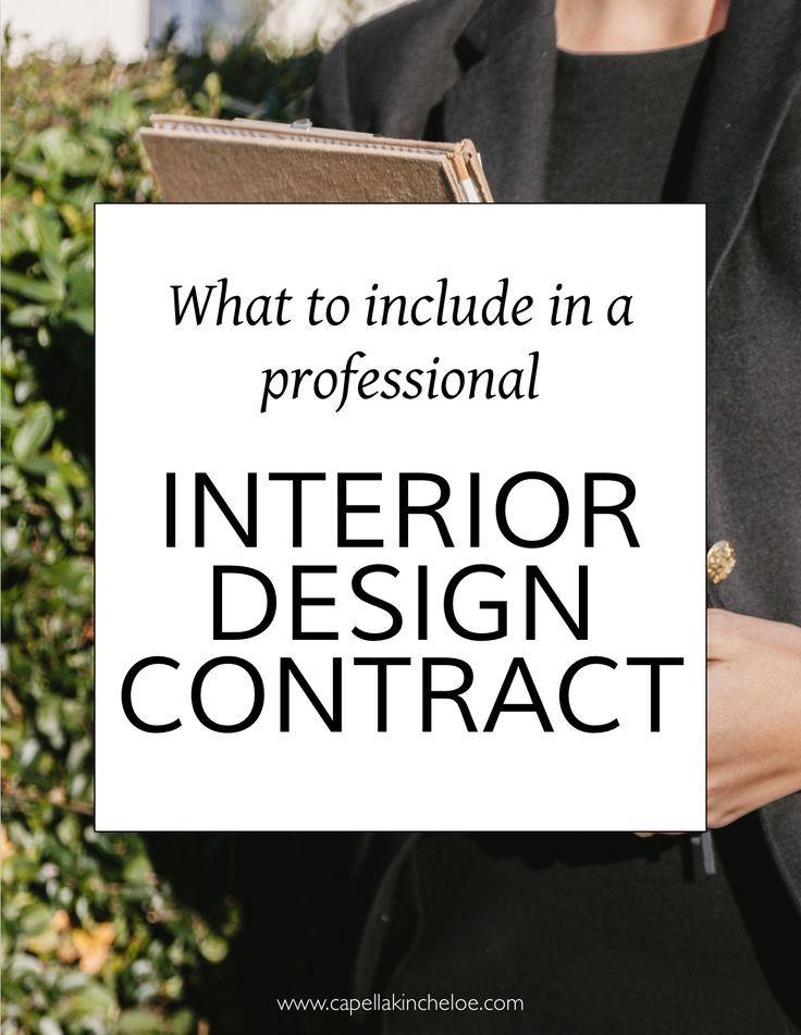 Anatomy of an Interior Design Agreement 20 Pinterest Interior