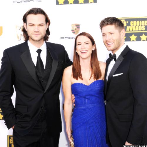 Jensen, Jared & Danneel at the 19th Annual Critics' Choice Movie Awards