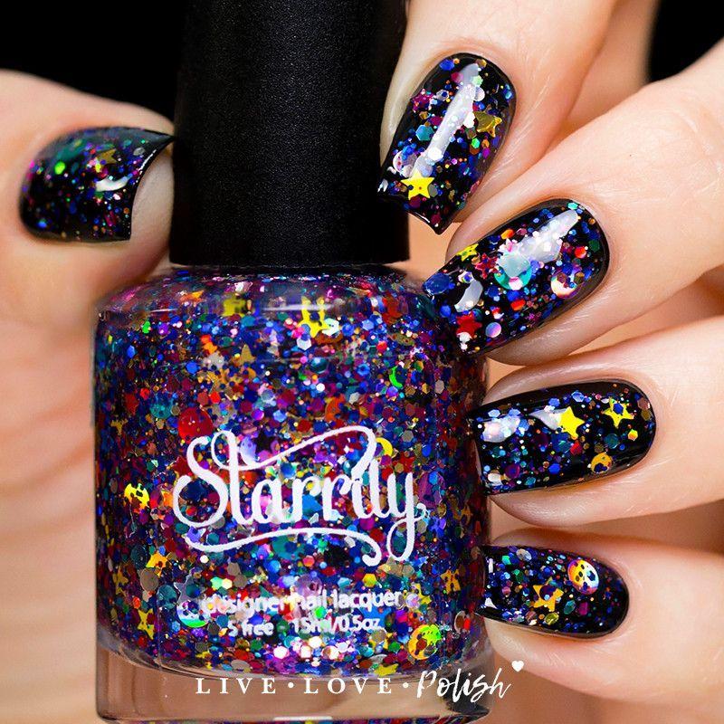 Starrily Galaxy Nail Polish | Galaxy nail, Beauty nails and Style nails