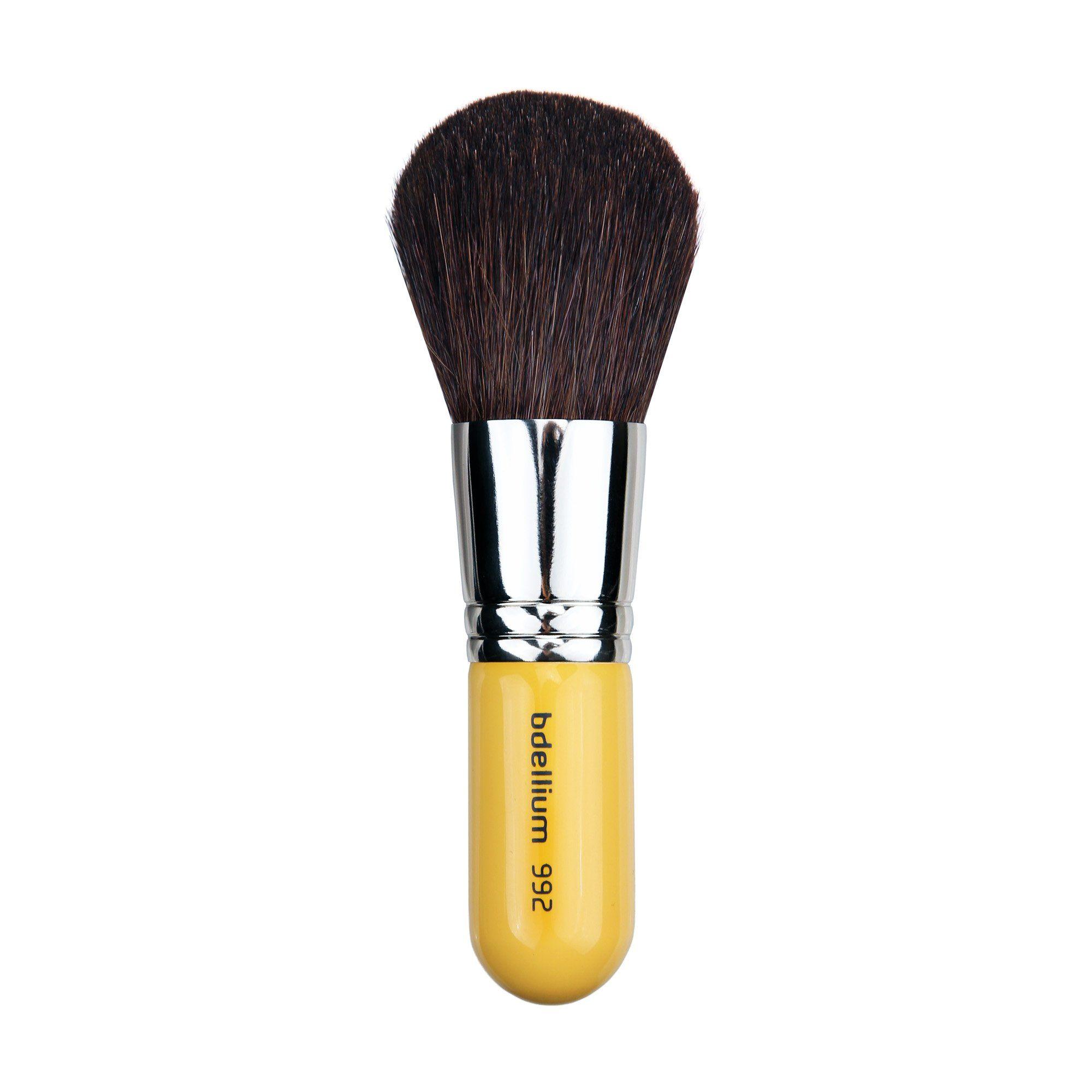 Bdellium Tools Travel Line Yellow Bronzer Brush. Hand