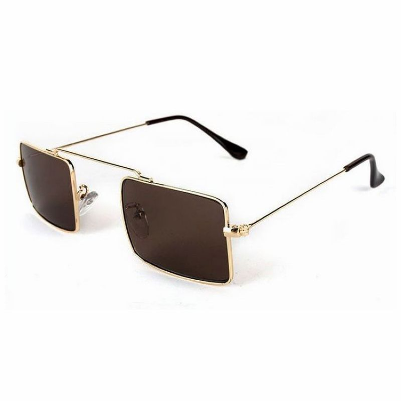 Sunglasses Retro Big Frame Classic Tide Men's Sunglasses,Gold frame,silver