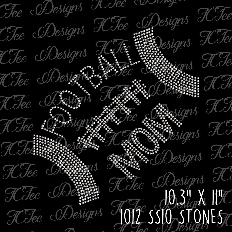 Football Mom Rhinestone SVG Design Download Rhinestone Template