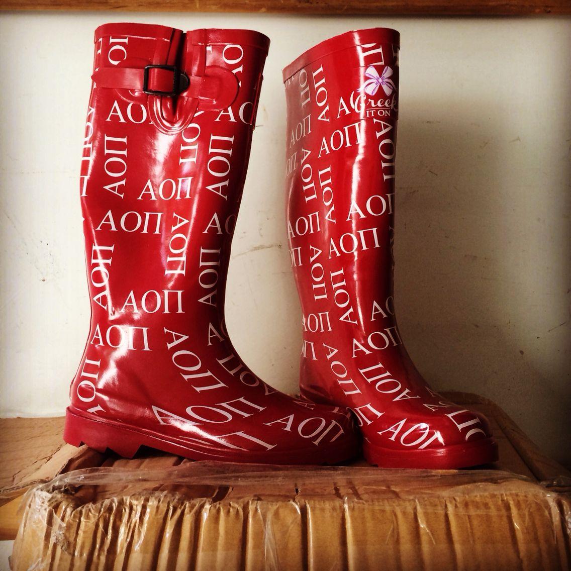 Aoii Sorority Rain Boots Boots Custom Rain Boots Rain Boots