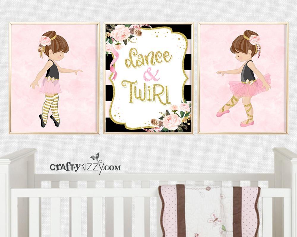 Cute Wall Art Princess Wall Art Girly Wall Art Blush Pink Wall Art Ballet Wall Art Nursery Ballerina Room Decor Pink Dancer Princess
