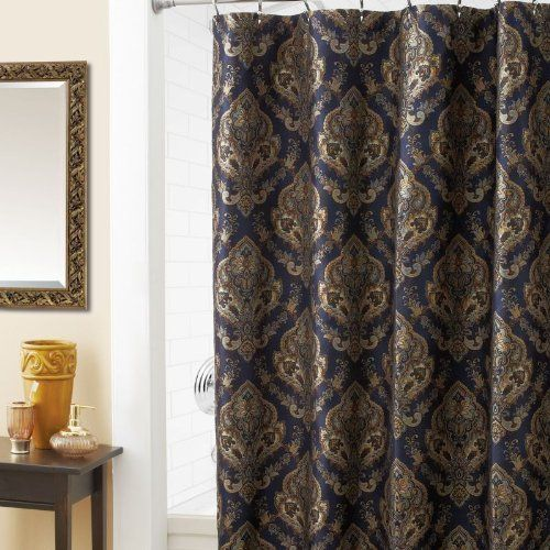 Croscill Home Laviano Shower Curtain Navy By Croscill Home, Http://www.