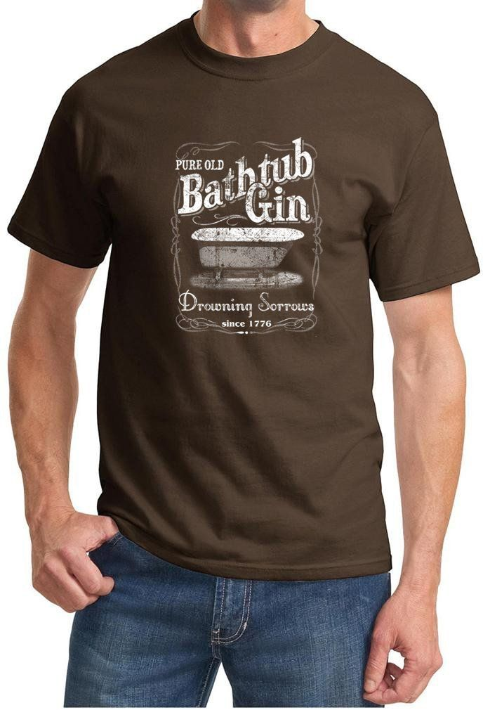Buy Cool Shirts Mens Moonshine Bathtub Gin T-Shirt   shades ...