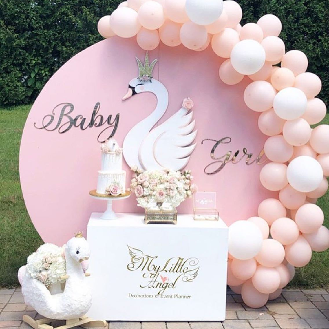 Swan Party Prop Backdrop Decor, Baby Shower Backdrop, Swan Party Cutout, Pastel Nursery Prop, Photo Prop, Swan Centerpiece Decor