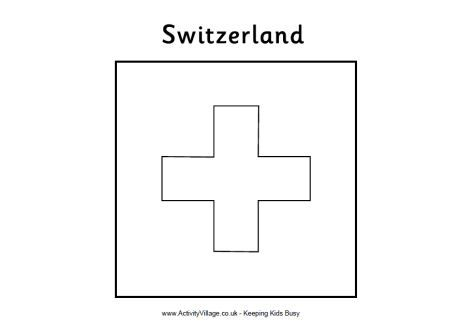 Olympic Flag Coloring Pages Flag Coloring Pages Switzerland