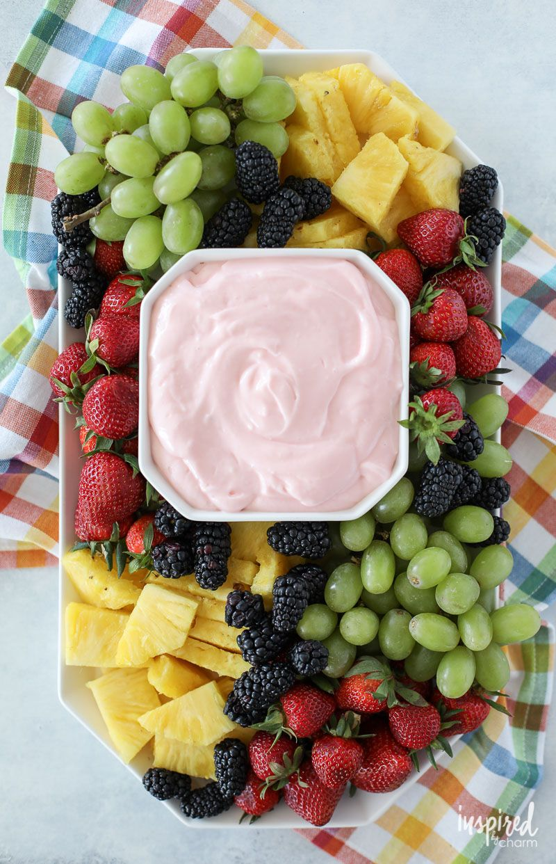 One Recipe: Fruit Tray with Dip