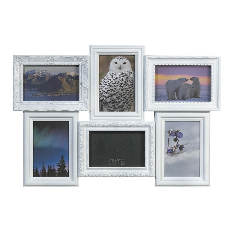Melannco 6-Opening 4\'\' x 6\'\' Collage Frame, White | Collage and Products