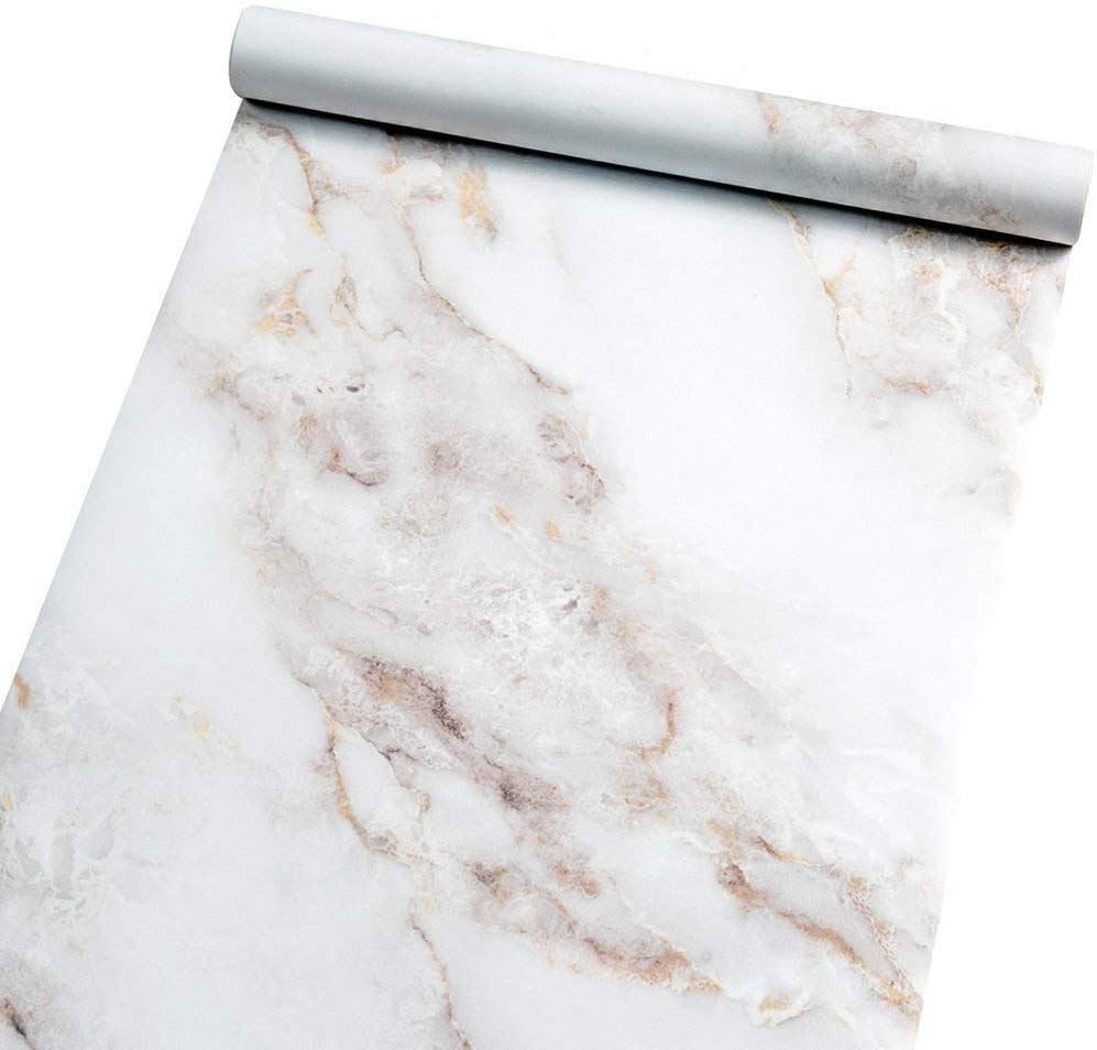 Homein Marble Self Adhesive Paper White 23.6