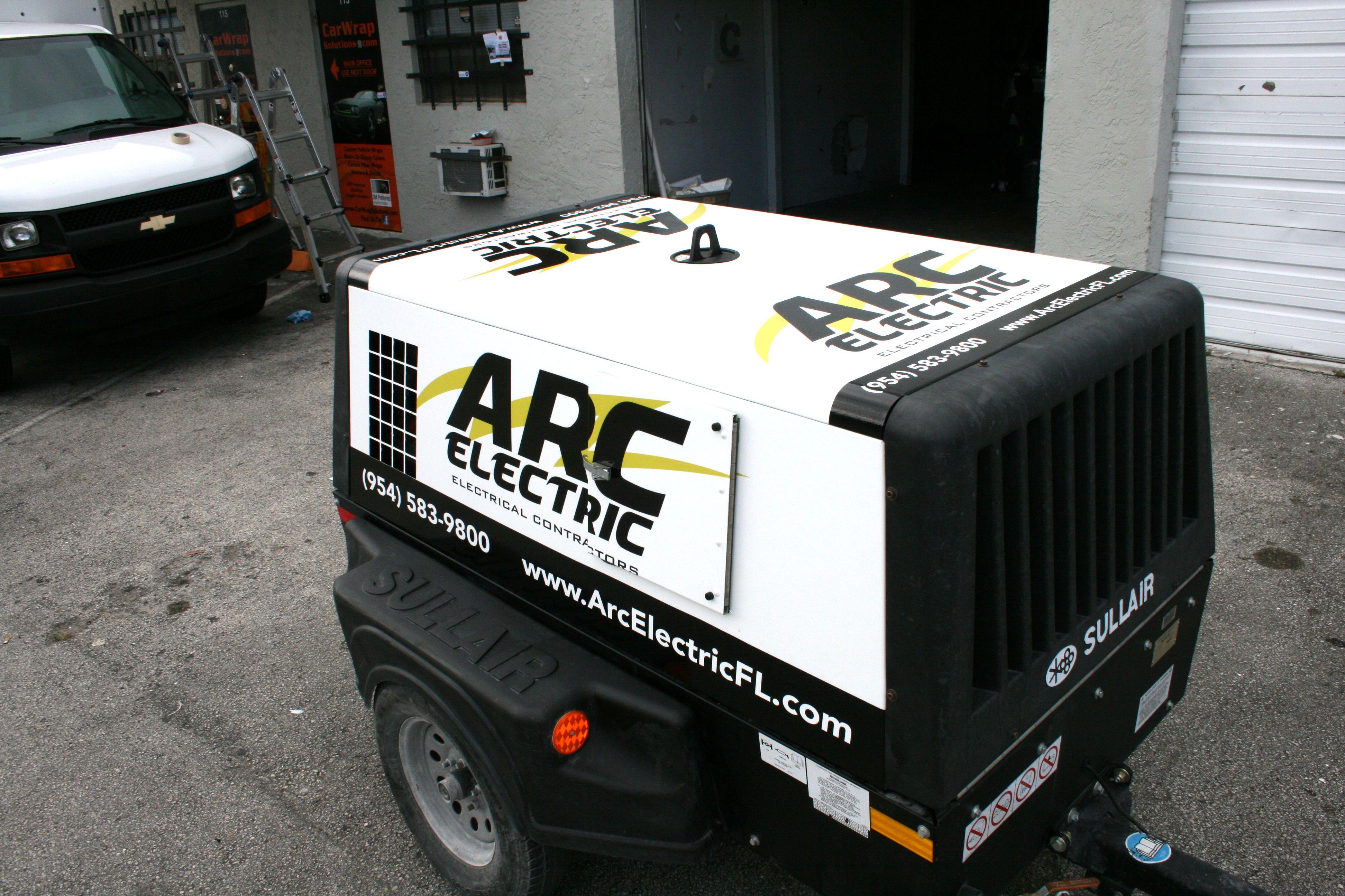 Mobile generator vinyl car wrap davie florida http