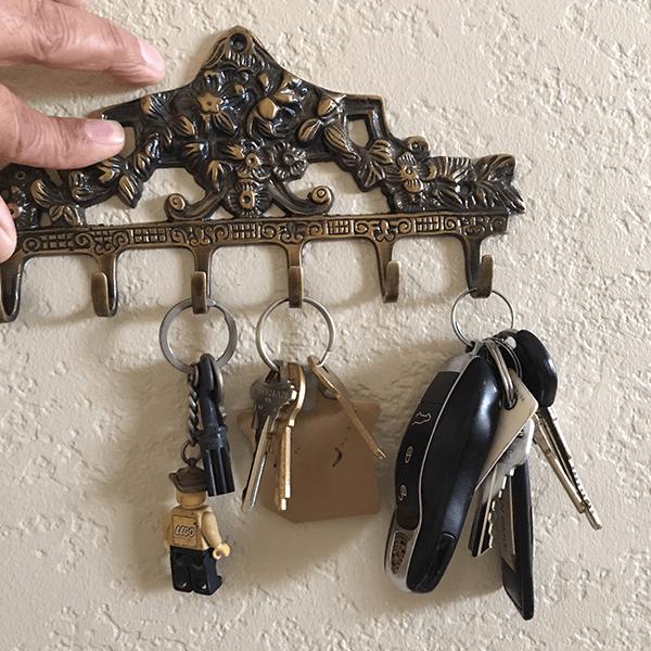 Antique Brass Victorian Hook Rack 6 Hooks Brass Accessories Antique Brass Brass