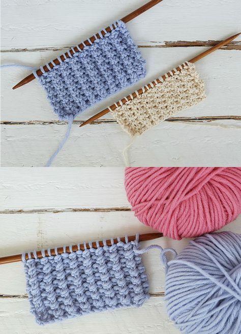 Punto fácil para tejer ropa de bebés en dos agujas | puntos ...