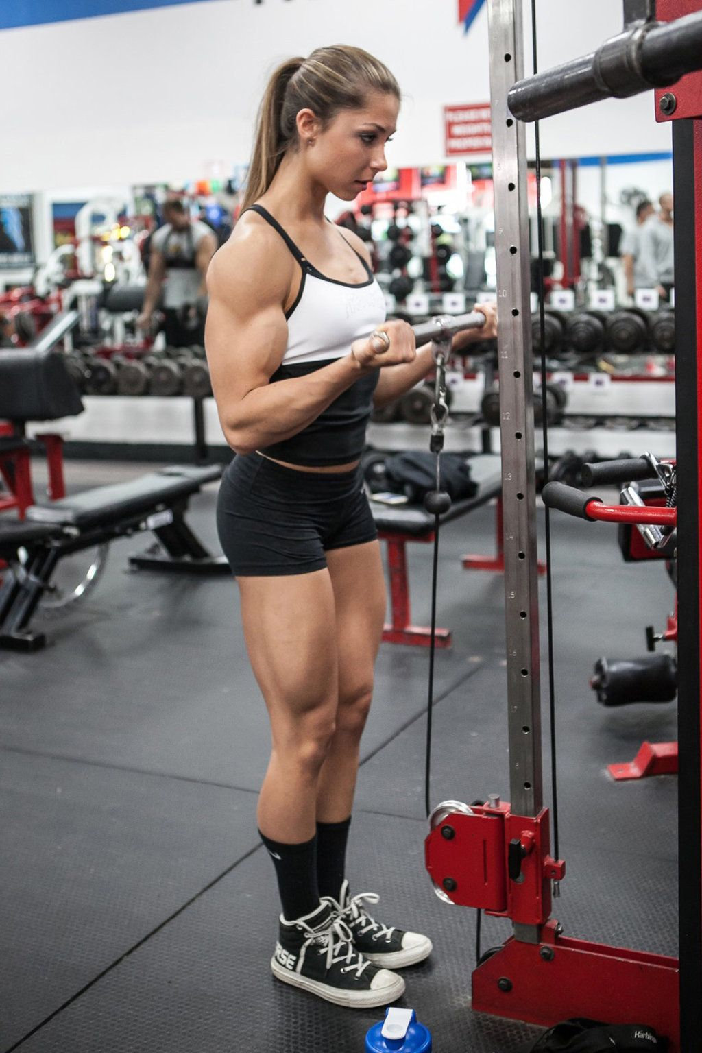 young female bodybuilder