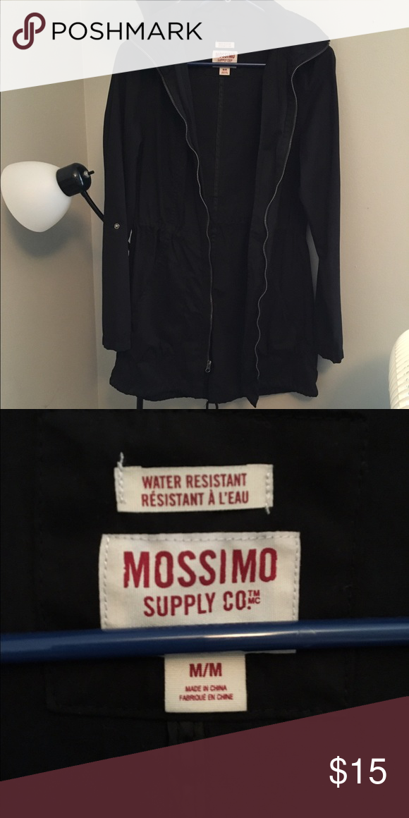 Long water resistant coat! Worn 2 times, perfect condition, water resistant, detachable collar! Mossimo Supply Co Jackets & Coats