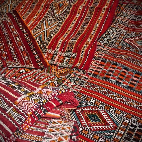 Moroccan Carpets In The Market In Azrou By