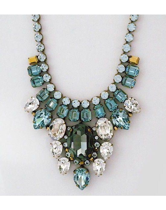 gorgeous colors ~ deco statement bib necklace