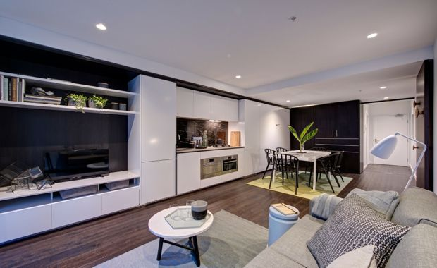 Convertible Apartment Living Takes Off In Melbourne Small Apartment House Space Apartments Kitchens And Bedrooms