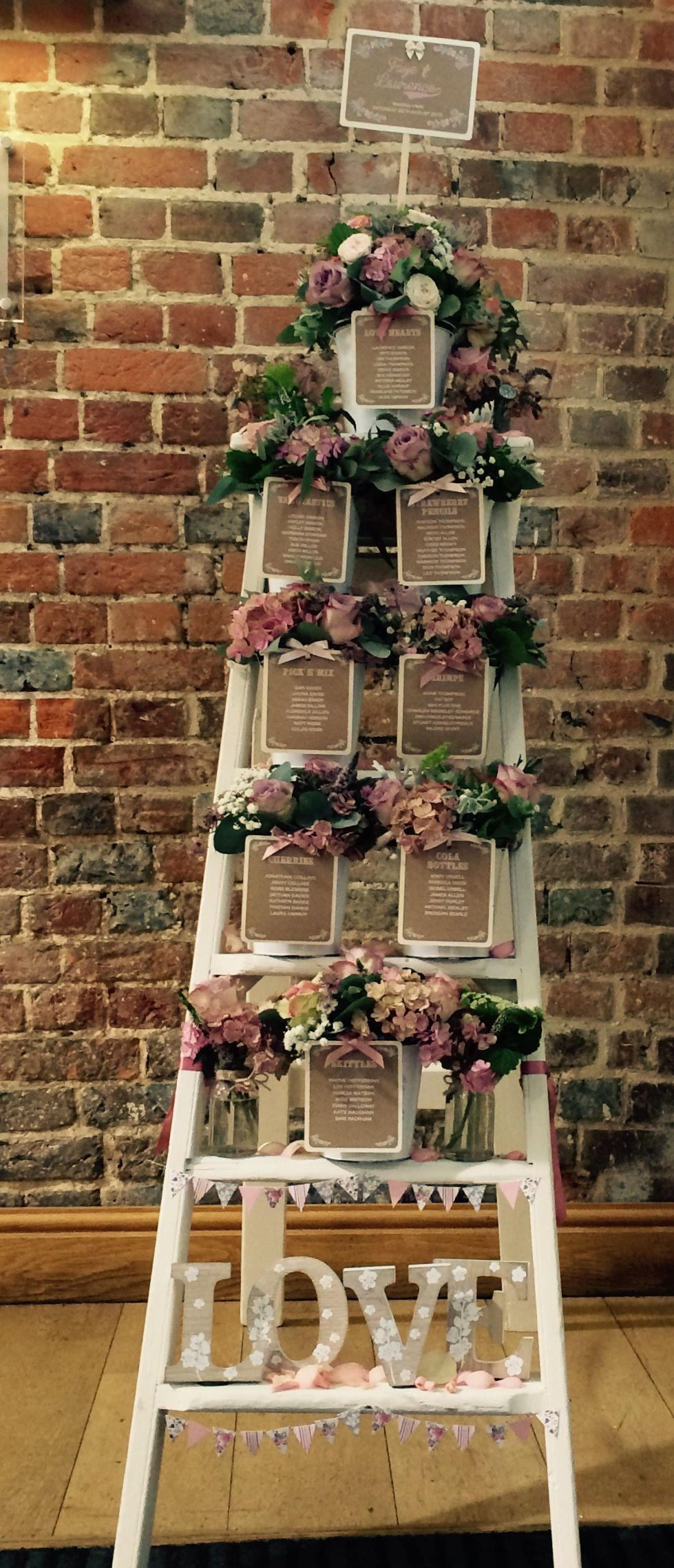 Country Vintage Chic Creative Seating Plan Ideas Inspiration At Wasing Park Near Newbury