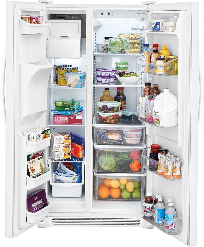 Frigidaire 255 cu ft sidebyside refrigerator 36