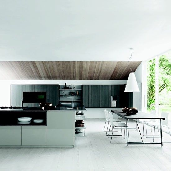 Open-plan zoned family kitchen   Family kitchen design ideas   housetohome.co.uk