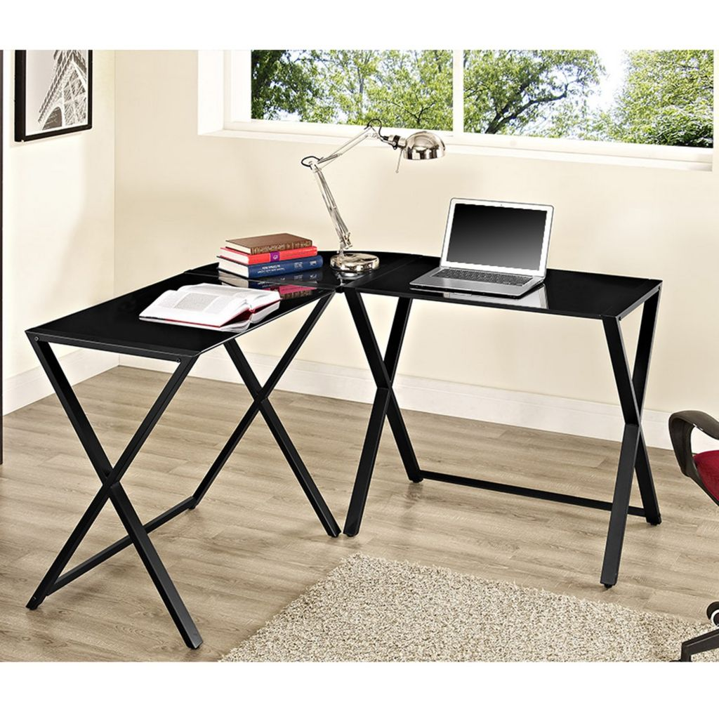 Glas Und Metall, Computer Schreibtisch Home Office Möbel Set Eine Der Besten  Möglichkeiten, Für