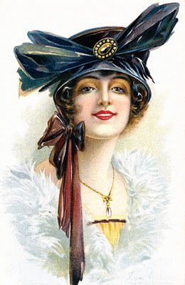 Collage Candy: More vintage postcards: Haughty ladies and naughty ladies