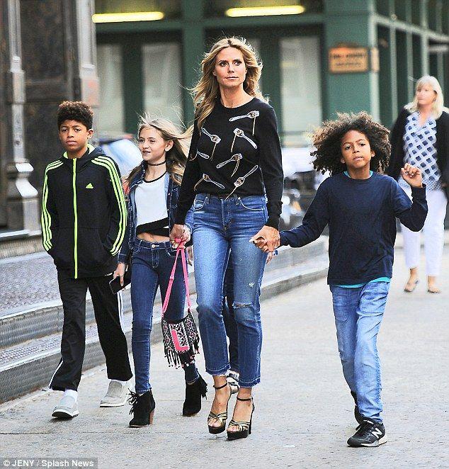 Heidi Klums Daughter Leni Briatore Is Her Lookalike