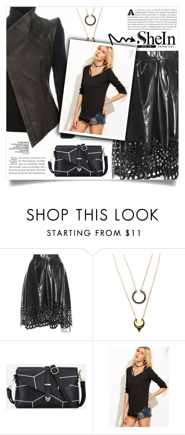 """Shein -top-"" by dolly-valkyrie ❤ liked on Polyvore featuring Marc Jacobs, WithChic, Sheinside and shein"