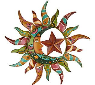 Plow Amp Hearth Talavera Sun Amp Moon Wall Art Sun Wall