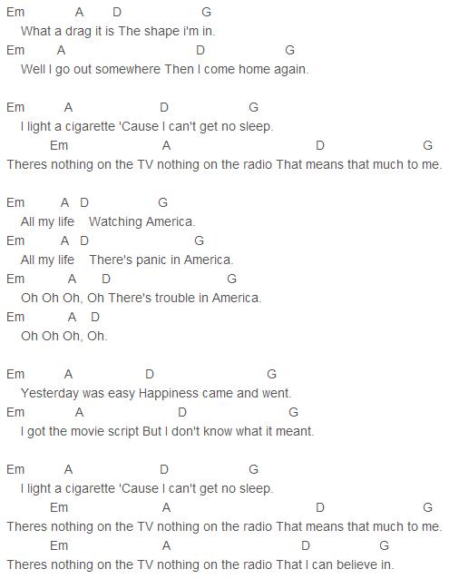 Razorlight America Chords Razorlight Pinterest Ukulele Tabs