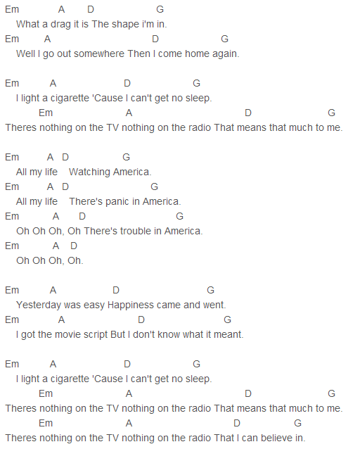 Razorlight - America Chords | Razorlight | Pinterest | Ukulele tabs ...