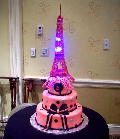 Birthday Cake Zebra Eiffel Tower Nail Polish Themed Birthday - Birthday cake paris