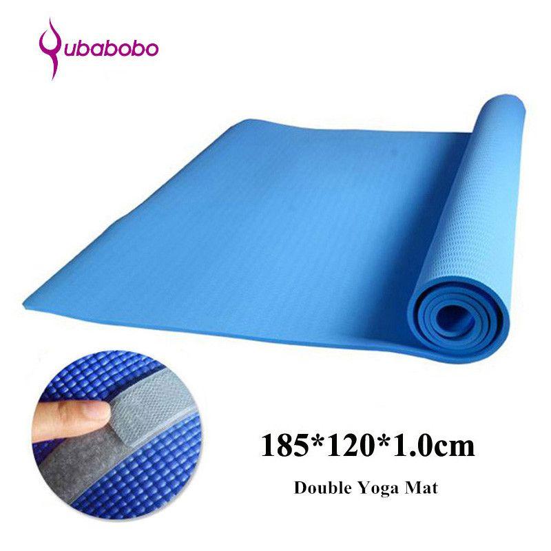10mm Nbr Non Slip Unisex Double Yoga Mats For Fitness 4 Color Gymnastics Mats Pilates Fitness Sports Mats Beach Mats185 120 Gymnastics Mats Sport Mat Yoga Mat