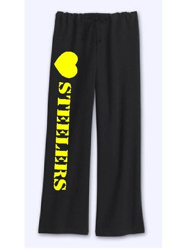Womens Steelers Sweatpants Black Size Large « Clothing Impulse ... 59661f4af