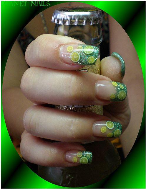 Green Lemon Nail Art Fimo Fruits Painted Up Pinterest Sally