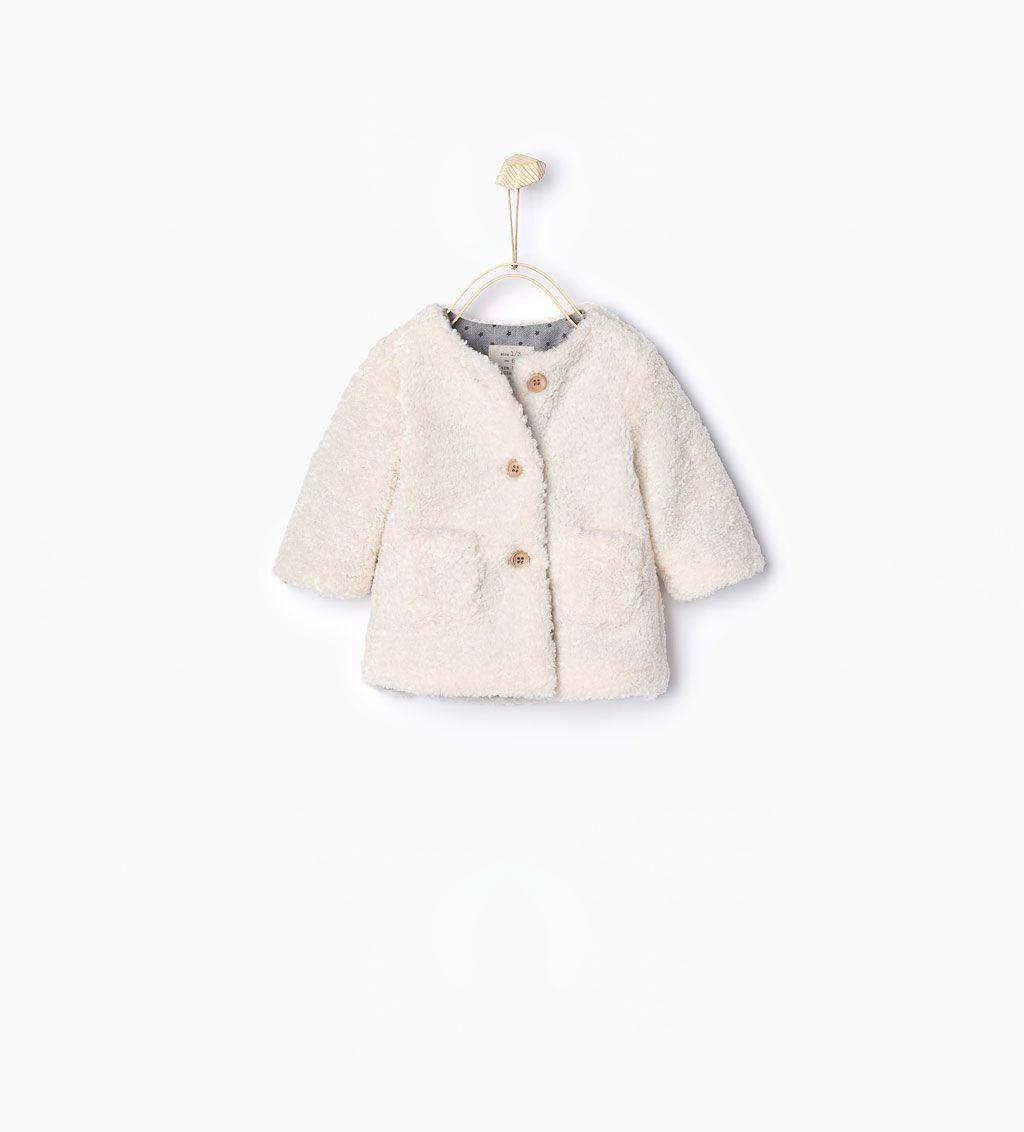 Bild 1 von Mantel mit Lammfell von Zara | Winter baby ...
