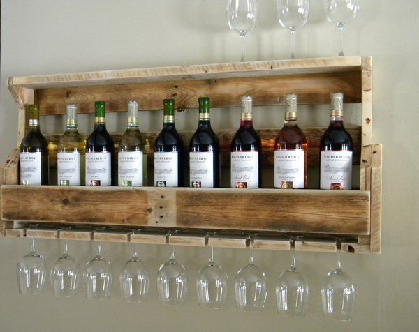Great How To Make Pallet Wine Rack With Glass Holder Instructions Tips Ideas