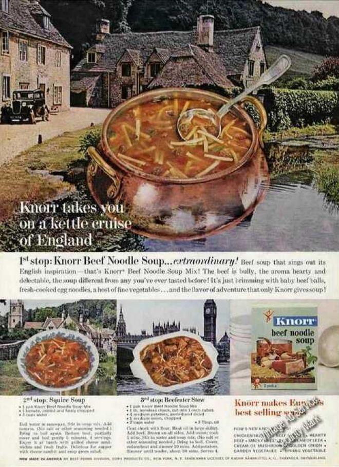 Knorr Kettle Cruise of England Village Scene (1963)