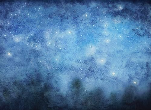 The night sky would look like a watercolor painting | If ...