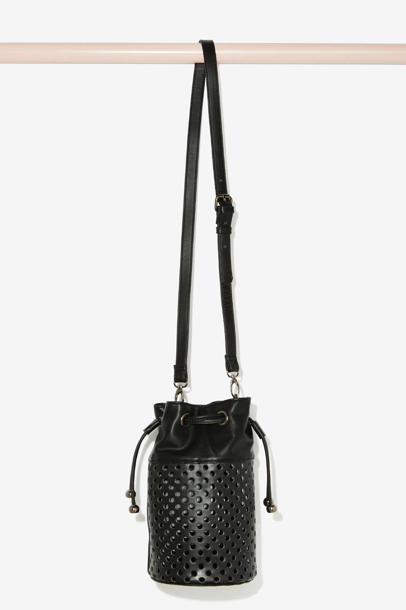 5f7de6982d6c Nasty Gal x Nila Anthony Tila Perforated Bucket Bag
