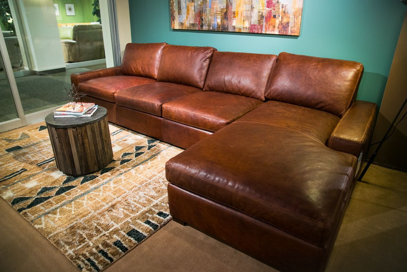 Extra Deep Seating Never Felt So Comfortable Check Out The Super Max Shown Here With Chaise Option In Wilder Leather Furniture Furniture Showroom Deep Seating
