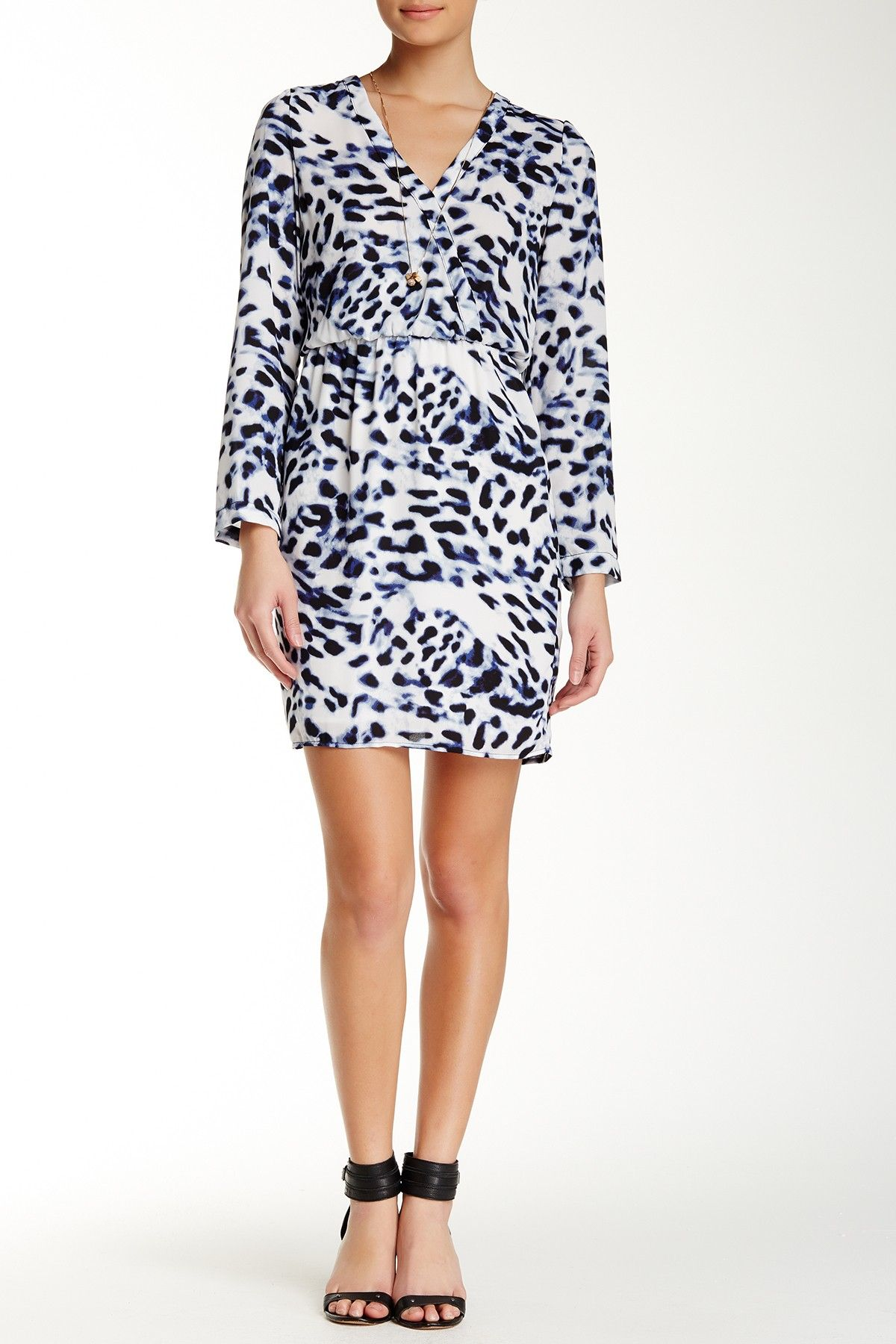 Long Sleeve Printed Dress by Eight Sixty on @nordstrom_rack