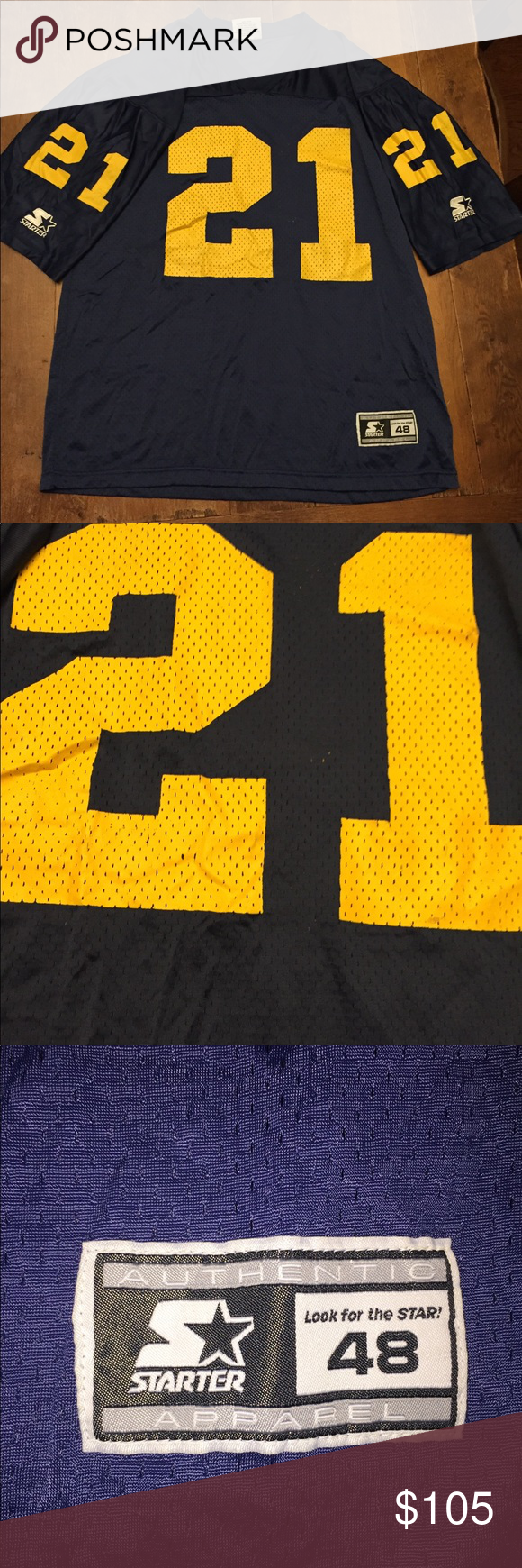 the latest 01e95 23aed Vintage Desmond Howard Michigan Football jersey Authentic ...