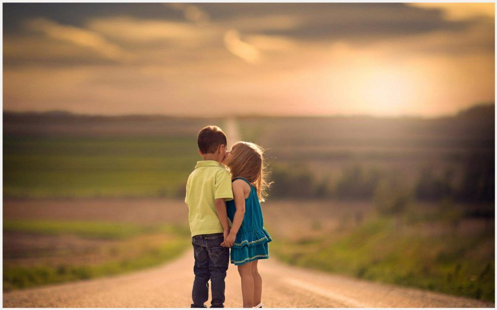 58 Hd Cute Quotes Sayings About Life And Love With Images: Children Kiss Cute Kids Love Wallpaper
