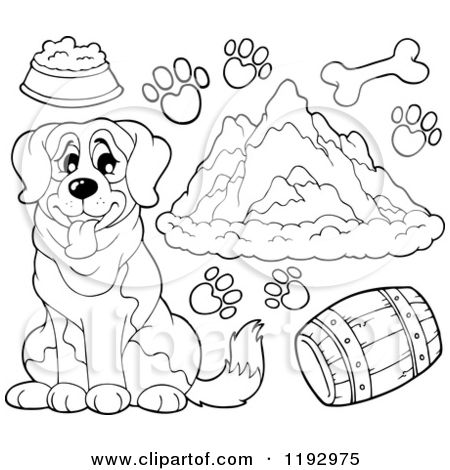 st bernard coloring pages - Google Search | bears | Pinterest | Bears