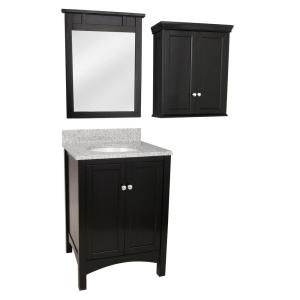 Foremost Haven 25 In Vanity In Espresso With Napoli Granite Top