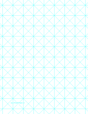 Triangles Are Set Against A OneInch Grid In This Blue Graph Paper